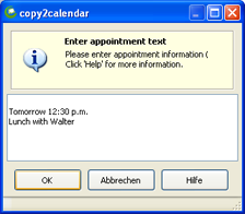 Copy2Calendar calendar addin for Outlook