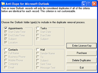 Remove Outlook duplicate records with Anti-Dupe