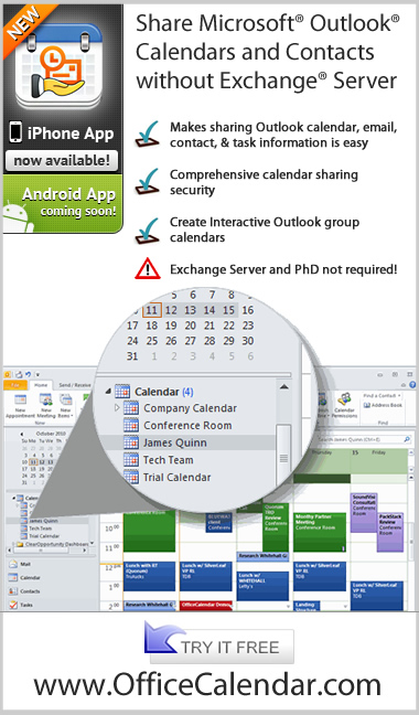 Outlook Calendar Sharing